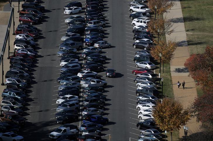 Cars are seen parked at the National Mall in Washington, U.S., November 15, 2016. REUTERS/Carlos Barria