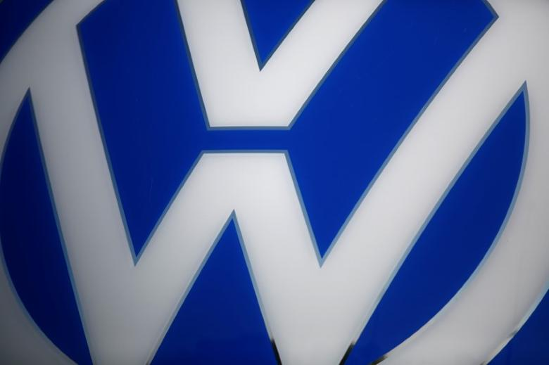 A Volkswagen logo is pictured at the newly opened Volkswagen factory in Wrzesnia near Poznan, Poland September 9, 2016. REUTERS/Kacper Pempel