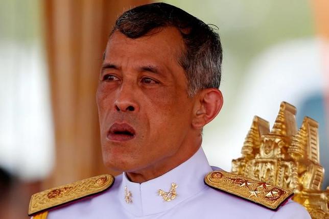 Thailand's Crown Prince Maha Vajiralongkorn watches the annual Royal Ploughing Ceremony in central Bangkok, Thailand, May 9, 2016. REUTERS/Athit Perawongmetha/File Photo