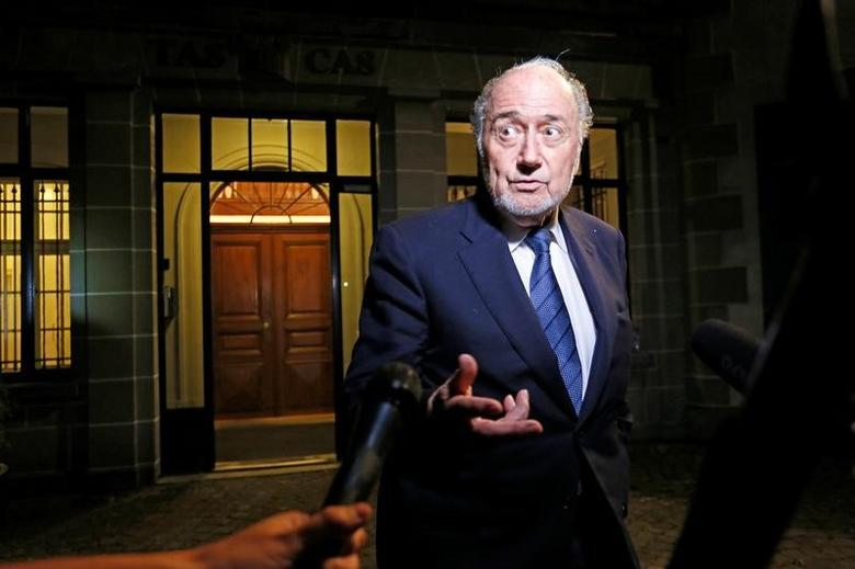 Former FIFA President Sepp Blatter leaves the Court of Arbitration for Sport (CAS) after being heard in the arbitration procedure involving him and FIFA in Lausanne, Switzerland, August 25, 2016. REUTERS/Pierre Albouy