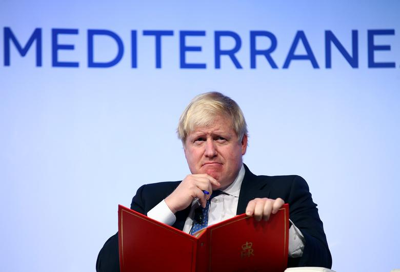 Britain's Foreign Secretary Boris Johnson gestures as he speaks during the MED Mediterranean Dialogues forum in Rome, Italy December 1, 2016. REUTERS/Alessandro Bianchi