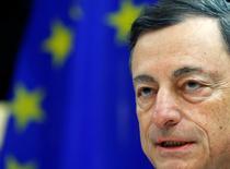 Presidente do BCE, Mario Draghi, durante evento em Bruxelas.    28/11/2016            REUTERS/Yves Herman