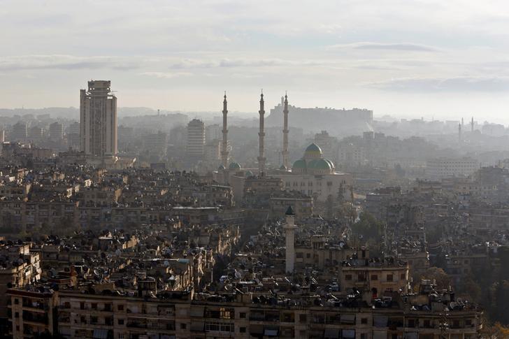 A general view shows Aleppo city, Syria December 2, 2016. REUTERS/Omar Sanadiki