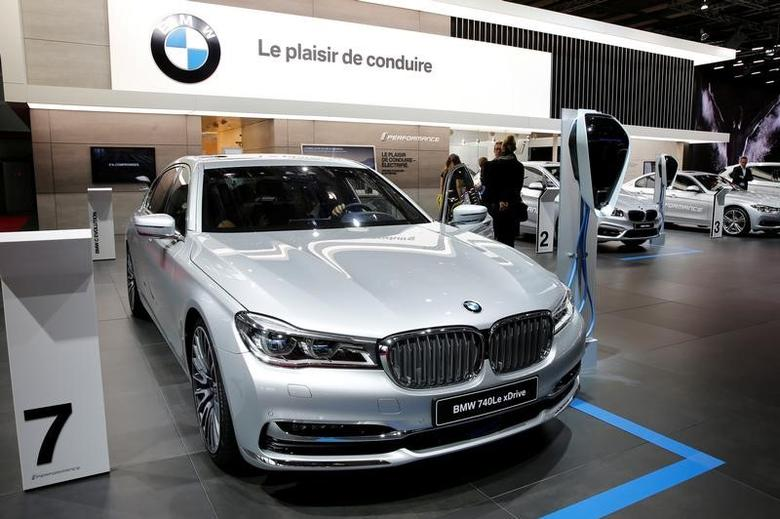 The BMW 740Le xDrive car is displayed on media day at the Paris auto show, in Paris, France, September 30, 2016. REUTERS/Benoit Tessier
