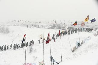 Winter sets in on the North Dakota Pipeline Protest