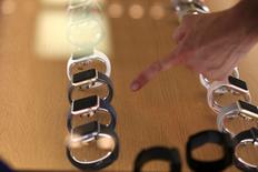 The new Apple Watch models are diplayed inside an Apple Inc. store in Los Angeles, California, U.S., September 16, 2016. REUTERS/Lucy Nicholson/File Photo