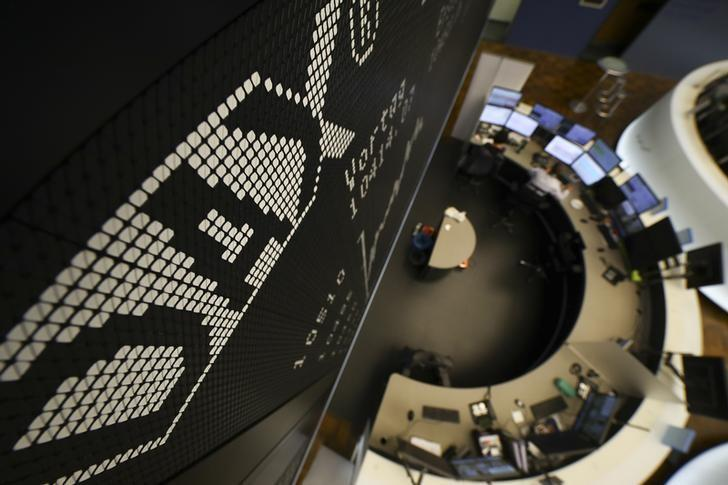 The German share prize index (DAX) board is seen at the trading room of Frankfurt's stock exchange (Boerse Frankfurt) during trading session in Frankfurt Germany, October 14, 2016. REUTERS/Kai Pfaffenbach