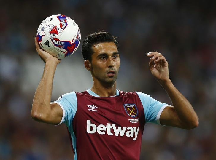 Britain Football Soccer - West Ham United v Accrington Stanley - EFL Cup Third Round - London Stadium - 16/17 - 21/9/16West Ham United's Alvaro Arbeloa Action Images via Reuters / Peter Cziborra