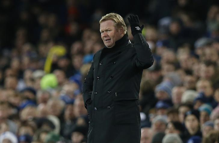 Football Soccer Britain - Everton v Manchester United - Premier League - Goodison Park - 4/12/16 Everton manager Ronald Koeman  Reuters / Andrew Yates Livepic