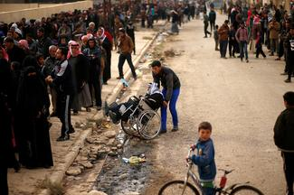 Desperate for supplies in Mosul