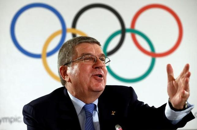 International Olympic Committee (IOC) President Thomas Bach attends a news conference after an Executive Board meeting in Lausanne, Switzerland, December 8, 2016. REUTERS/Denis Balibouse