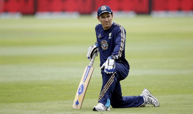Cricket - Australia Nets - Headingley Carnegie - 20/7/10 Australia's Justin Langer during nets Mandatory Credit: Action Images / Carl Recine Livepic