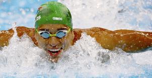 2016 Rio Olympics - Swimming - Preliminary - Men's 100m Butterfly - Heats - Olympic Aquatics Stadium - Rio de Janeiro, Brazil - 11/08/2016. Chad Le Clos (RSA) of South Africa  competes   REUTERS/David Gray