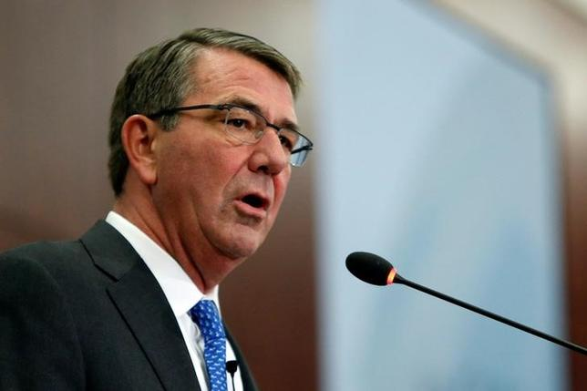 U.S. Defense Secretary Ash Carter speaks at the Center for Strategic and International Studies in Washington, U.S., October 28, 2016. REUTERS/Gary Cameron