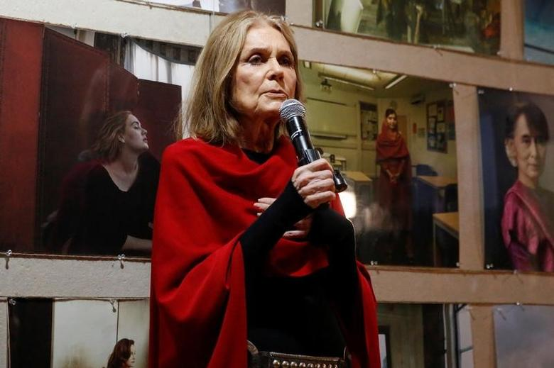 Writer and activist Gloria Steinem speaks about photographer Annie Leibovitz's new exhibit 'WOMEN: New Portraits' commissioned by UBS in New York U.S., November 15, 2016. REUTERS/Shannon Stapleton