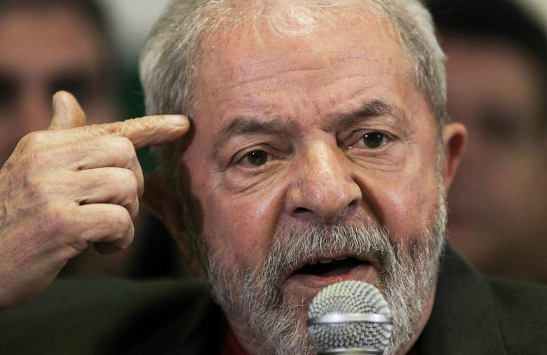 Brazil's former President Luiz Inacio Lula da Silva talks to the journalists during a press conference in Sao Paulo, Brazil, September 15, 2016. REUTERS/Fernando Donasci