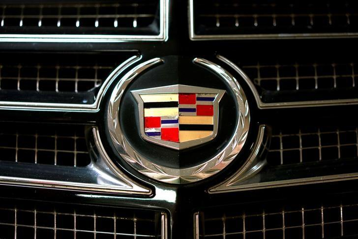 The logo of Cadillac is pictured on a car in Moscow, Russia, July 6, 2016. REUTERS/Maxim Zmeyev/File Photo