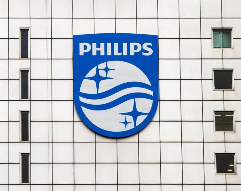 A Philips logo is seen at Philips headquarters in Amsterdam, Netherlands, January 28, 2014. REUTERS/Toussaint Kluiters/United Photos/File Photo