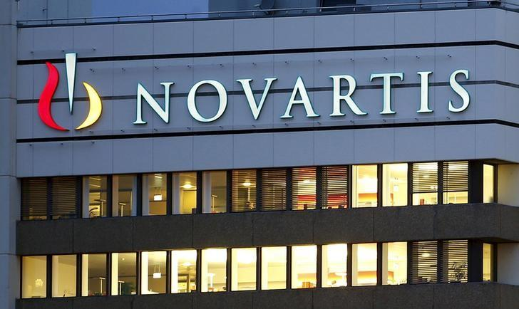 The logo of Swiss drugmaker Novartis is seen at its headquarters in Basel, Switzerland October 22, 2013. REUTERS/Arnd Wiegmann/File Photo