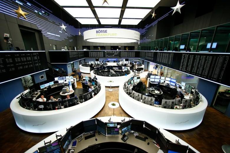 The trading floor is pictured at the stock exchange in Frankfurt, Germany, December 8, 2016.    REUTERS/Ralph Orlowski