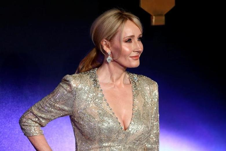 Writer J.K. Rowling poses as she arrives for the European premiere of the film ''Fantastic Beasts and Where to Find Them'' at Cineworld Imax, Leicester Square in London, Britain November 15, 2016. REUTERS/Neil Hall/File Photo