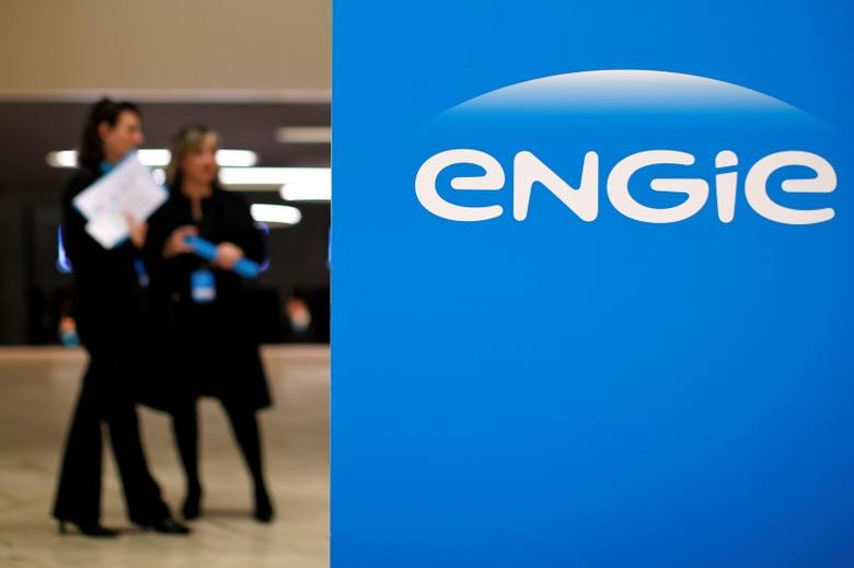 Engie, the new name and logo of French utility GDF Suez, is pictured during the group's shareholders general meeting in Paris, France, April 28, 2015. REUTERS/Benoit Tessier