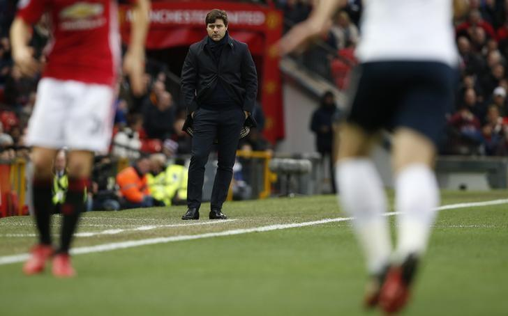 Football Soccer Britain - Manchester United v Tottenham Hotspur - Premier League - Old Trafford - 11/12/16 Tottenham manager Mauricio Pochettino  Reuters / Andrew Yates Livepic
