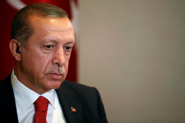 Turkish President Tayyip Erdogan prepares for an interview in New York City, U.S. September 19, 2016.  REUTERS/Brendan McDermid