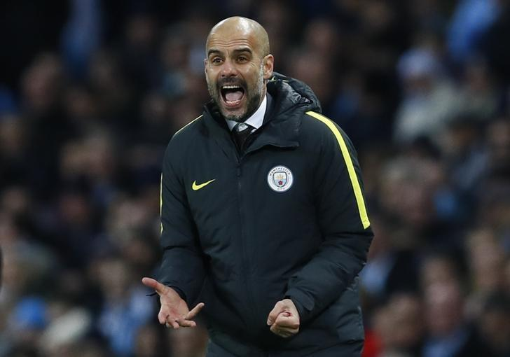 Britain Football Soccer - Manchester City v Watford - Premier League - Etihad Stadium - 14/12/16 Manchester City manager Pep Guardiola  Action Images via Reuters / Jason Cairnduff Livepic