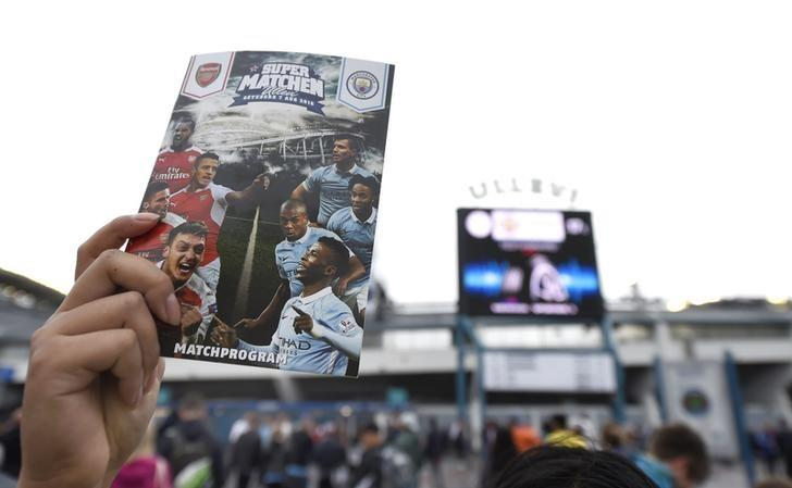 Football Soccer Britain - Arsenal v Manchester City - Pre Season Friendly - Ullevi Stadium, Gothenburg, Sweden - 7/8/16General view of a match day programme before the gameAction Images via Reuters / Adam Holt/ Livepic/ Files