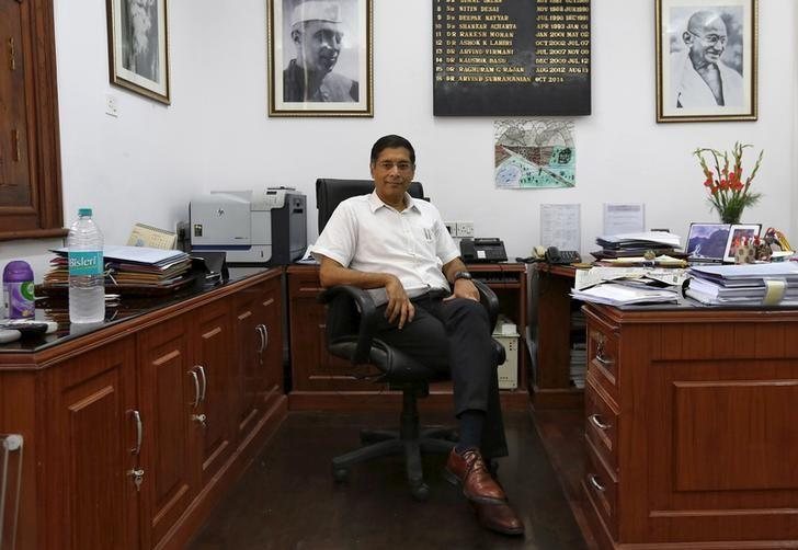 Arvind Subramanian, chief economic adviser, poses after an interview with Reuters in New Delhi, India, September 23, 2015.   REUTERS/Adnan Abidi/Files