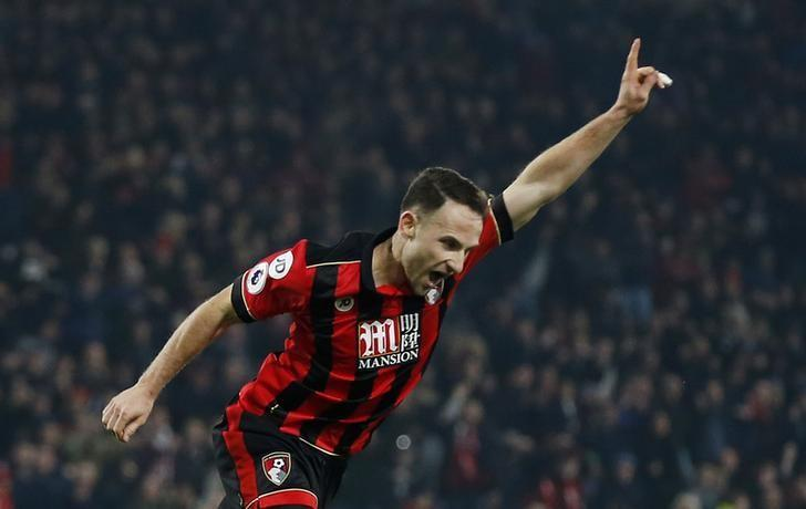 Britain Football Soccer - AFC Bournemouth v Leicester City - Premier League - Vitality Stadium - 13/12/16 Bournemouth's Marc Pugh celebrates scoring their first goal  Action Images via Reuters / Matthew Childs/ Livepic/ Files