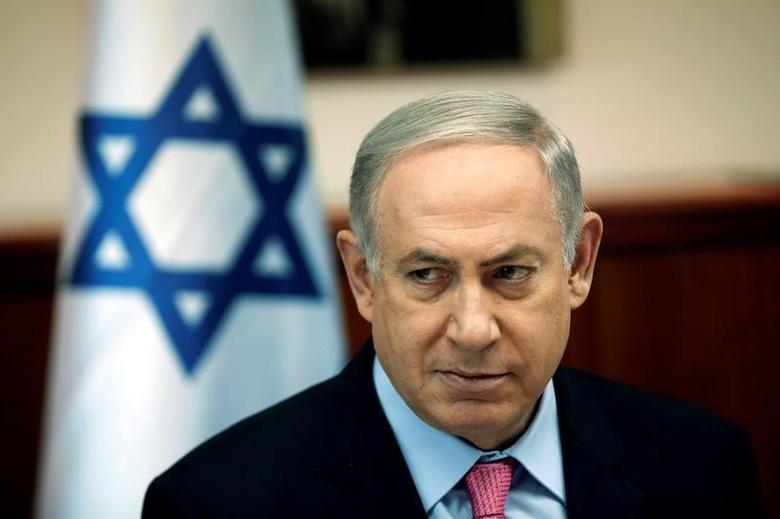 Israeli Prime Minister Benjamin Netanyahu attends the weekly cabinet meeting in Jerusalem, July 24, 2016. REUTERS/Ronen Zvulun/Files