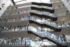 Le climat des affaires s'est légèrement amélioré en décembre en Allemagne. /Photo d'archives/REUTERS/Kai Pfaffenbach