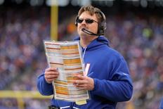 Nov 20, 2016; East Rutherford, NJ, USA; New York Giants head coach Ben McAdoo coaches against the Chicago Bears during the fourth quarter at MetLife Stadium. Mandatory Credit: Brad Penner-USA TODAY Sports
