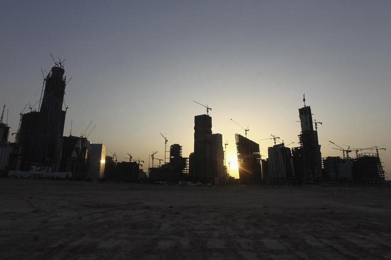 A view of the King Abdullah Financial District in the Saudi capital Riyadh at sun set October 9, 2013. REUTERS/Faisal Al Nasser