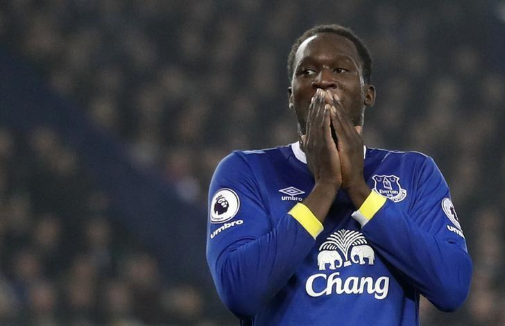 Britain Football Soccer - Everton v Liverpool - Premier League - Goodison Park - 19/12/16 Everton's Romelu Lukaku looks dejected after missing a chance to score  Action Images via Reuters / Carl Recine Livepic
