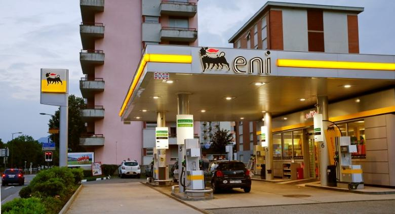 The logo of Italian Eni energy company is seen at a Agip gas station in Lugano, Switzerland June 3, 2016.  REUTERS/Arnd Wiegmann