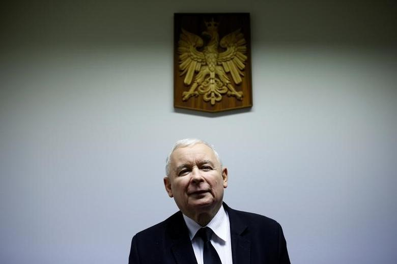 Jaroslaw Kaczynski poses after an interview with Reuters in party headquarters in Warsaw, Poland December 19, 2016. Picture taken on December 19, 2016. REUTERS/Kacper Pempel