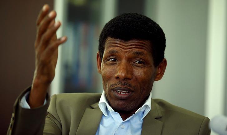Haile Gebrselassie, former Ethiopia's long distance runner and Olympic champion, speaks during an interview with Reuters in his office after he was elected president of the Ethiopian Athletics Federation in Addis Ababa, Ethiopia November 7, 2016. REUTERS/Tiksa Negeri/Files