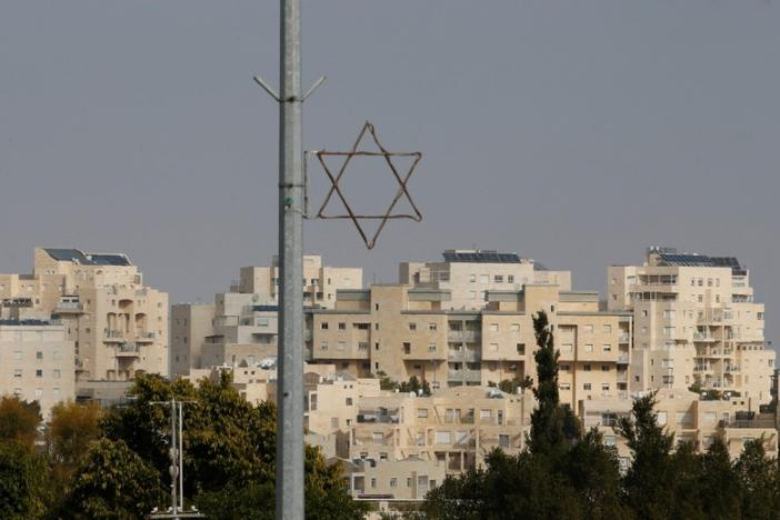 A general view shows a Star of David near buildings in the Israeli settlement of Maale Edumim, in the occupied West Bank December 28, 2016. REUTERS/Baz Ratner