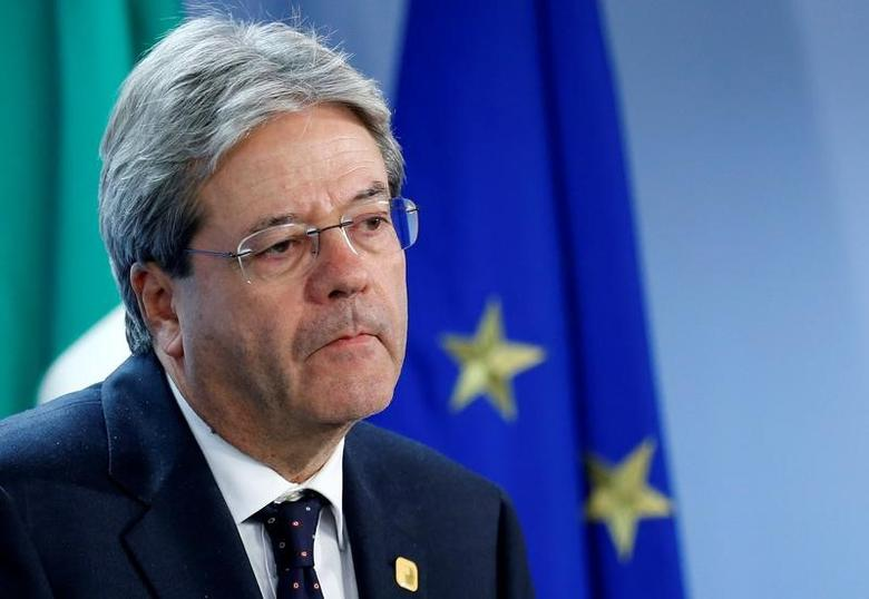 Italy's Prime Minister Paolo Gentiloni addresses a news conference during a European Union leaders summit in Brussels, Belgium, December 15, 2016. REUTERS/Francois Lenoir