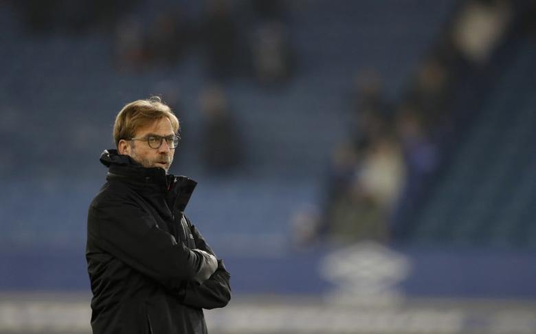 Liverpool manager Juergen Klopp during the warm up before the match Action Images via Reuters / Carl Recine Livepic