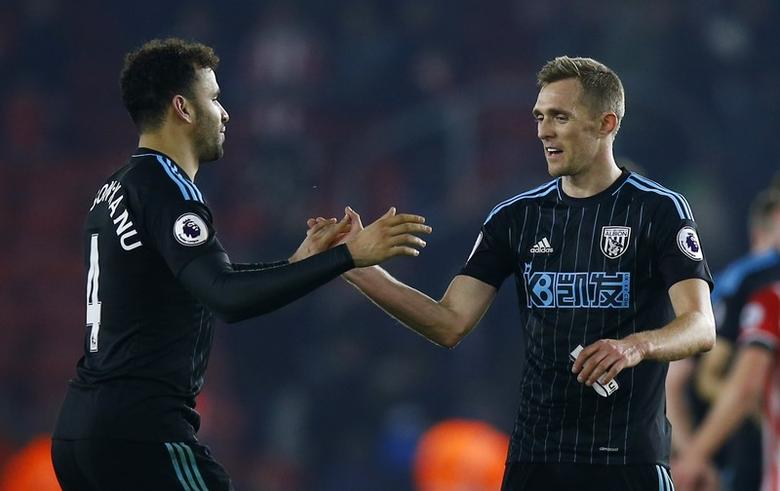 Southampton v West Bromwich Albion - Premier League - St Mary's Stadium - 31/12/16 West Bromwich Albion's Darren Fletcher and West Bromwich Albion's Hal Robson-Kanu after the game  Action Images via Reuters / Peter Cziborra Livepic