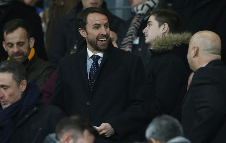 England manager Gareth Southgate in the stands before the match. Hull City v Everton - Premier League - The Kingston Communications Stadium - 30/12/16.   Reuters / Andrew Yates Livepic