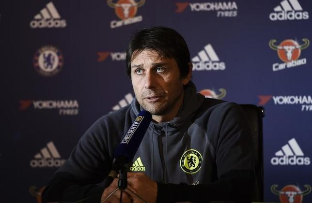 Britain Football Soccer - Chelsea - Antonio Conte Press Conference - Chelsea Training Ground - 3/1/17 Chelsea manager Antonio Conte during the press conference Action Images via Reuters / Tony O'Brien Livepic