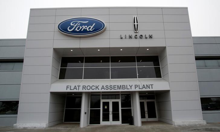An entrance to the Ford Motor Co. Flat Rock Assembly Plant is seen in Flat Rock, Michigan, U.S. January 3, 2017. REUTERS/Rebecca Cook