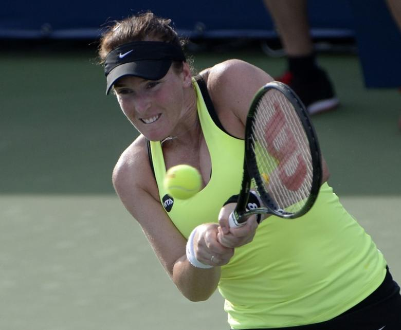 File photo of Madison Brengle of the United States at the Rogers Cup tennis tournament at Uniprix Stadium. Mandatory Credit: Eric Bolte-USA TODAY Sports