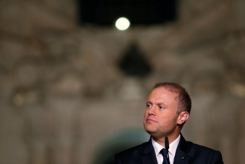 Malta's Prime Minister Joseph Muscat addresses a news conference outside his office at Auberge de Castille after the presentation of the 2017 Budget speech in Valletta, Malta, October 17, 2016. REUTERS/Darrin Zammit Lupi/Files