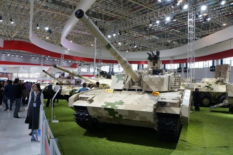 A VT5 lightweight main battle tank, built by China North Industries Corp (Norinco), is on display at Airshow China in Zhuhai, Guangdong province November 3, 2016. REUTERS/Tim Hepher